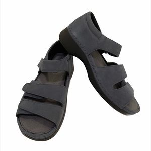 Propet blue suede leather sandals size7.5